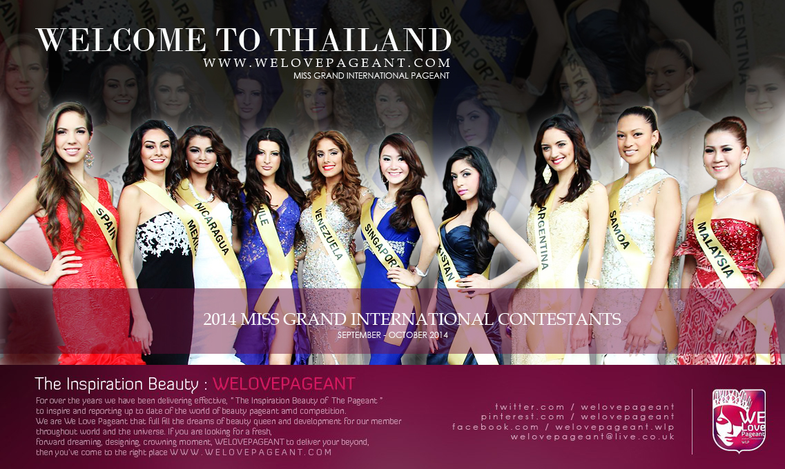 Welcome to Thailand 2014 Miss Grand International Contestants